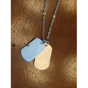 Ivory Doggie Tag Necklace- NOT UP
