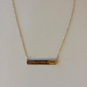 Inspiration Gold Plate Necklace