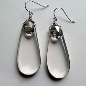 Beaded Teardrop Earrings - Sterling