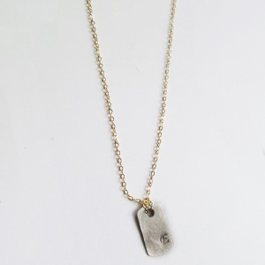 Doggie Tag Initial Necklace