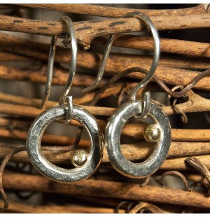 Pebble Earrings- Circle