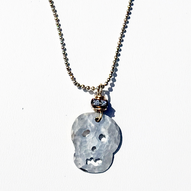 sterling day of the dead necklace