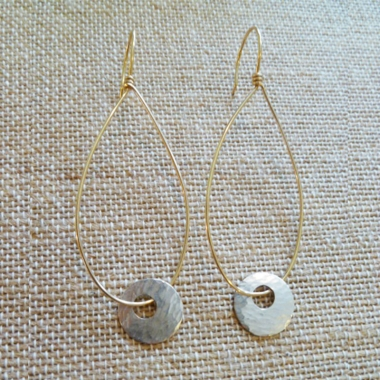 Swinging Disk Earrings